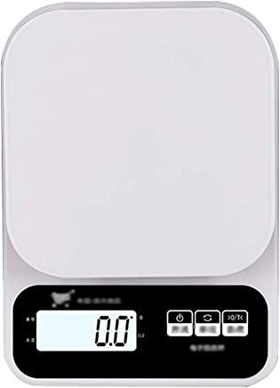 Kitchen Scale - ABS Plastic, Backlit Display, Home Waterproof Small Multi-Function Electronic Platform Scale - 2 Kinds Range (Color : Charging, Size : 3kg)