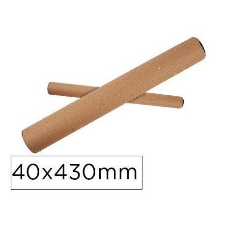 Q-Connect Tubo De Cartón  Portadocumentos Tapa Plástico 40X430 Mm