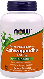 NOW® Ashwagandha, 450 mg, 180 Veg Capsules