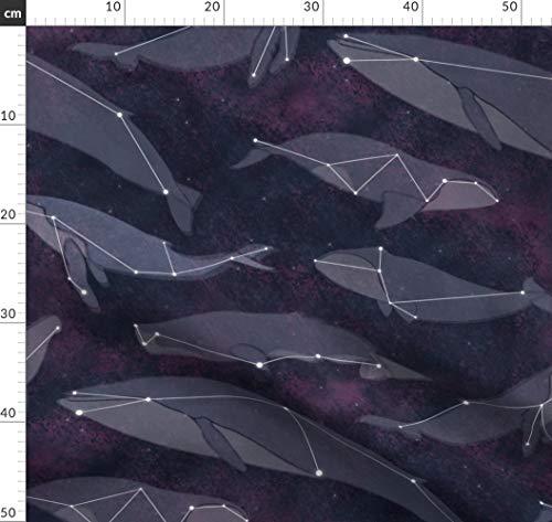 Sternbild, Stern, Himmel, Sternzeichen, Sterne, Weltraum, Wal Stoffe - Individuell Bedruckt von Spoonflower - Design von Wildnotions Gedruckt auf Sport Lycra