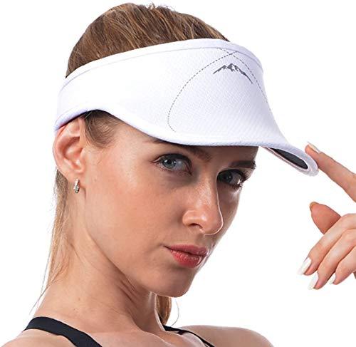 Veatree Visiera Parasole per Donne e Uomini, a Tesa Lunga, Regolabile, per Golf, Ciclismo, Pesca, Tennis, Corsa, Jogging e Altri Sport
