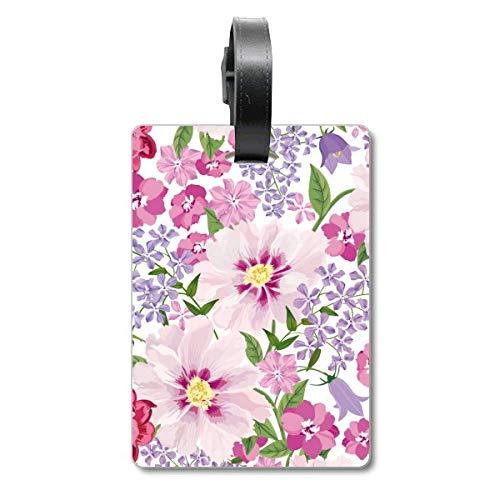Flower Sea Drawing Art Plant Valigia Borsa Tag Bagaglio Carta Appeso Scutcheon Etichetta
