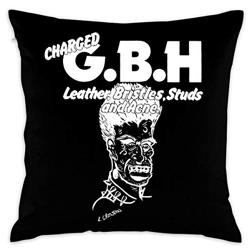 Without Charged GBH Leather,Bristles,Studs and Acne Decorative Reading Pillow Covers Case Pillowcases Fundas para Almohada (55cmx55cm)