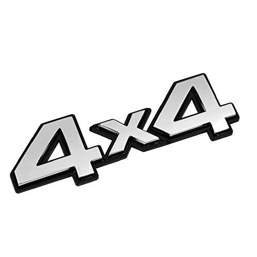 4 x 4 AWD FWD 4WD Emblème autocollant 3D Argenté chromé