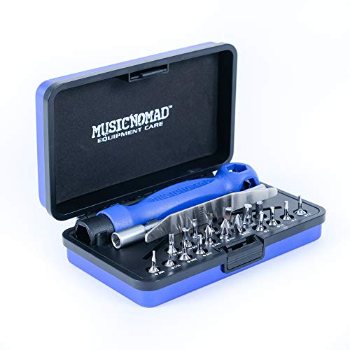 MusicNomad Premium 26 PC. Guitar Tech Screwdriver & Wrench Set MN229
