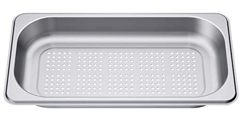 Bosch HEZ36D163G Zubehör für Dampfgarer / Dampfbehälter / Gareinsatz / Edelstahl / gelocht / Größe S
