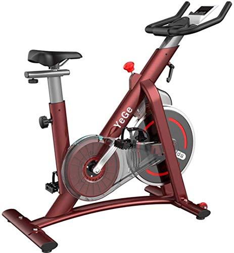 WGFGXQ Bicicleta estática para Interiores, Bicicleta estática electromagnética Fija con Asiento Ajustable y Bicicleta estática de Control magnético de Resistencia, Bicicleta de Spinning Adecuada pa