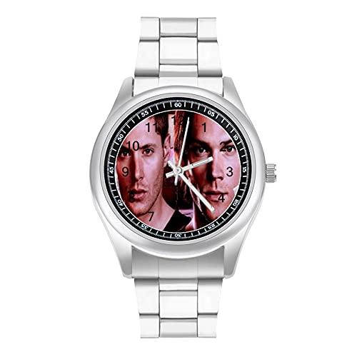 Reloj de pulsera Supernatural de moda y hermoso estilo deportivo informal de negocios con banda de acero
