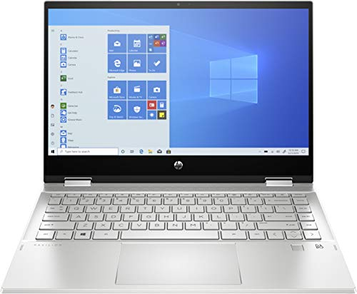 HP Pavilion x360 Convertible 14-dw1017ns – Ordenador portátil FullHD de 14' (Procesador Intel Core i5-1135G7, 8GB RAM, 512GB SSD, Intel Iris XE Graphics, Windows 10) Plata – Teclado QWERTY ES