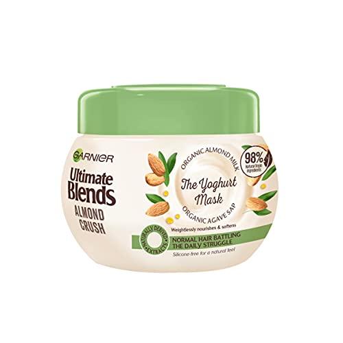 ultime mélanges Garnier Lait d'amande & Agave SAP Cheveux Normaux yaourt Masque 300 ml