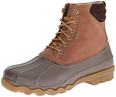 Sperry Mens Avenue Duck Boots, Tan/Brown, 11