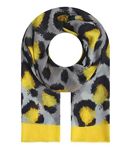 Majea Halstücher Damen Tuch Kopftuch Halstuch Schal Damen-Schal Tücher Damen Stola (gelb 6)
