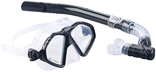 Speeron Tauchbrille: Schnorchel-Set für Erwachsene, Taucherbrille mit gehärteten Gläsern (Schnorchelbrille)