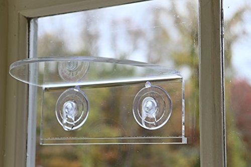 Window Garden Veg-Ledge - Clear Suction Cup Window Shelf Holds up to 6 Lbs.