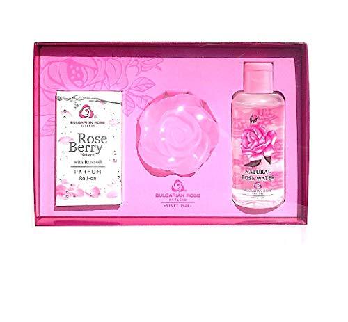 Lady Cadeau pour Lot de 3 Pièces avec huile de rose Naturel