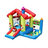 WRJY Castillo Hinchable para niños casa de Juguete casa Parque de Atracciones pequeño trampolín Castillo Travieso tobogán de Agua niños Payaso Gorila Castillo Hinchable