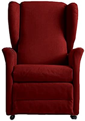 GLOBAL RELAX Orietta XL Poltrona Lift, Legno, Rosso, 92x85x105 cm