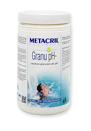 Metacril Granu PH-(1,5 kg) Riduttore del PH Granulare - Produzione Europea - Ideale per Piscina e Spa Idromassaggio (Jacuzzi,Teuco,Dimhora,Bestway,Intex,ECC.) Spedizione IMMEDIATA