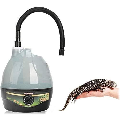 AKL Luftbefeuchter Für Reptilien 2.2L Wassertank Kein Eidechsen Chamäleons Schlangen Fogger Luftbefeuchter Verdampfer Nebel Hersteller Generator Für Reptilien Amphibien Terrarium