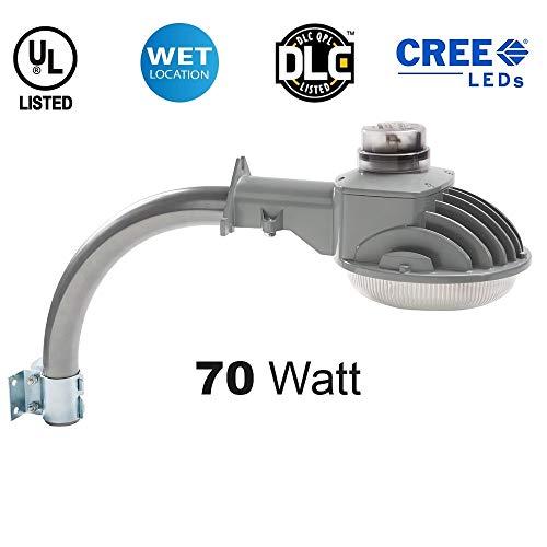 LED Dusk to Dawn Light - Brightest on Amazon - 70 Watt - 10,000 Lumens! - Perfect for use as an LED Yard Light, LED Barn Light or LED Security Light