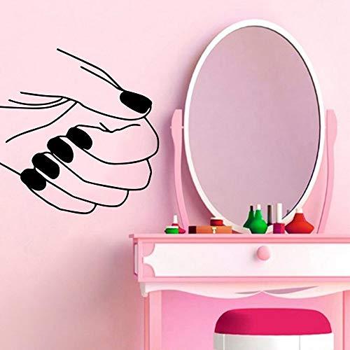 Tianpengyuanshuai Schöne Finger fingernagel Salon wandaufkleber Dekoration Aufkleber Wohnzimmer Dekoration kinderzimmer Aufkleber 50x50 cm