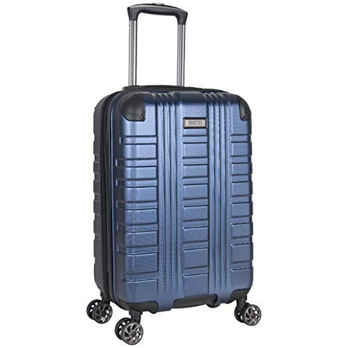 Kenneth Cole Reaction Scott's Corner Hardside Expandable 8-Wheel Spinner TSA Lock Travel Suitcase, Navy, 20-inch Carry On