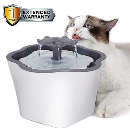 Cat Water Fountain 67oz Intelligent Power Off Automatic Pet Drinking Water Dispenser for Cats Dogs Small Animals, Filter Includes