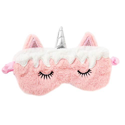 Beaupretty - Máscara de ojos de unicornio, suave cubierta para dormir, siesta, viajes