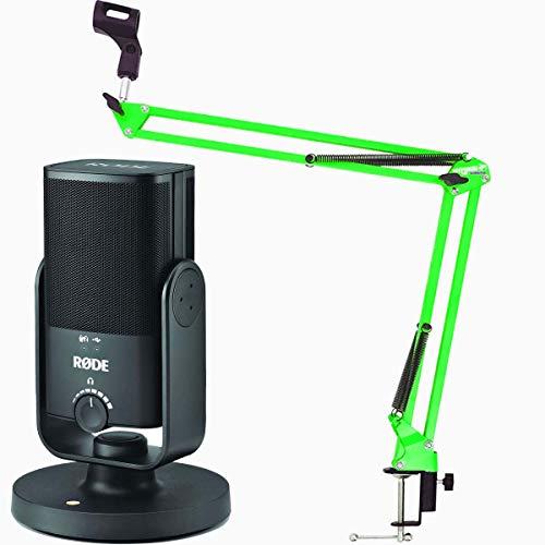 Micrófono de condensador Rode NT-USB Mini USB + keepdrum NB35 GR verde brazo de micrófono