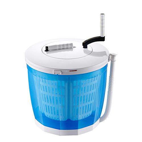 Ruijing Lavadora Manual, Mini Lavadora de sobremesa portátil/Secadora de Centrifugado, 2 Funciones, sin Electricidad, para Dormitorio de Estudiantes Viajes al Aire Libre