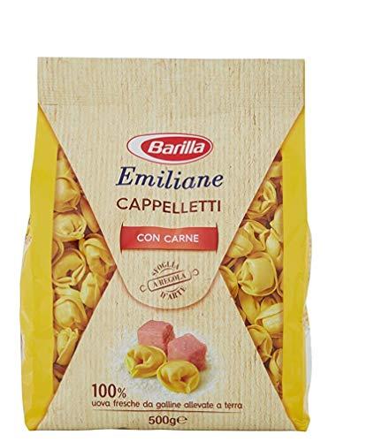 3x Barilla Emiliane Pasta all'Uovo Cappelletti mit Fleisch Nudeln mit ei 500g