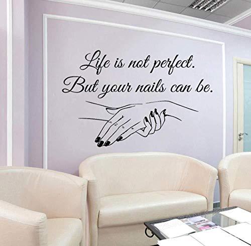 Wand fenster aufkleber aufkleber nagelstudio nägel nail art maniküre pediküre schönheitssalon vinyl wandaufkleber poster 57 * 37 cm