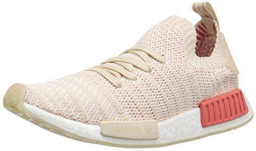 adidas Originals Women's NMD_R1 STLT PK Running Shoe, Linen/White/White, 6.5 M US