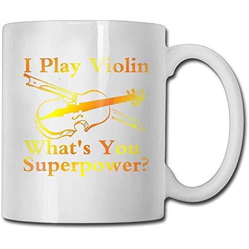 Ik spelen viool wat je bent? Supermacht koffiemok 11 ounces vriend echtgenoot keramiek geschenken theekop