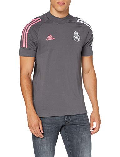Adidas Real Madrid Temporada 2020/21 Camiseta Viaje Oficial, Unisex, Gris, M