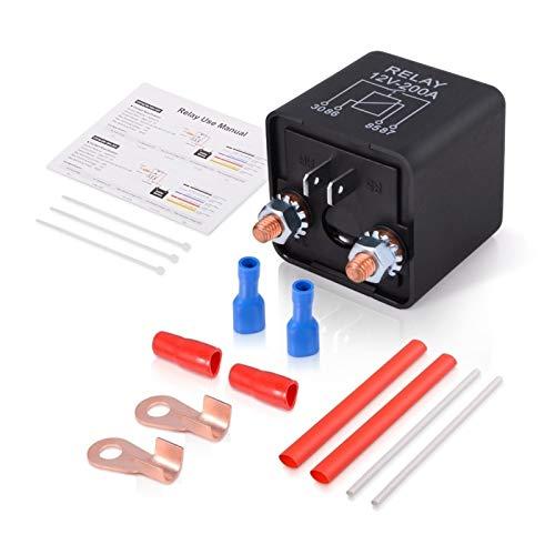 Vernacular Kit de zócalo de transmisor de Motor de Motor de Potencia 200a 12V 24V Normalmente Abierto automotriz ON/Off Interruptor de Salida de automóvil de Alta Corriente (Color : 24V)