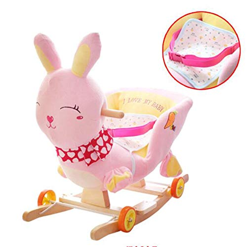 Buy Bargain YUMEIGE Rocking Ride-Ons Boy&Girl Rocking Animal PP Cotton Pad, Solid Wood Base,Rocking ...