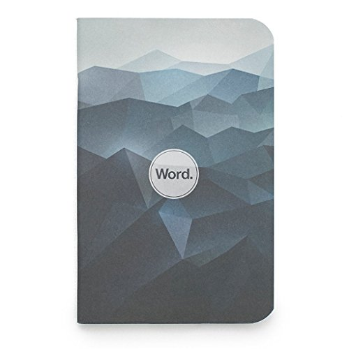 """Word Notebooks Pocket Notebook for To-Do Lists, Bullet Lists, Journaling, Notepads - Mini Notebooks with Unique Abstract Designs - 3.5"""" x 5.5"""" (3 Pack)"""