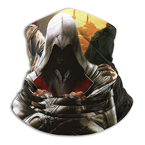 asdew987 Assassin'S Creed Logo Polaina para el cuello, bufanda facial, bandana sin costuras, diadema para hombres y mujeres, protección contra el sol, el viento, el polvo, el esquí, montar a caballo