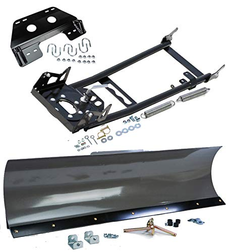KFI 54' Straight Steel Snowplow Combo Kit - 54' Straight Plow + Mount Bracket + Push Tube - fits 2020-2021 Honda TRX520 Rubicon (All Models) (ATV)