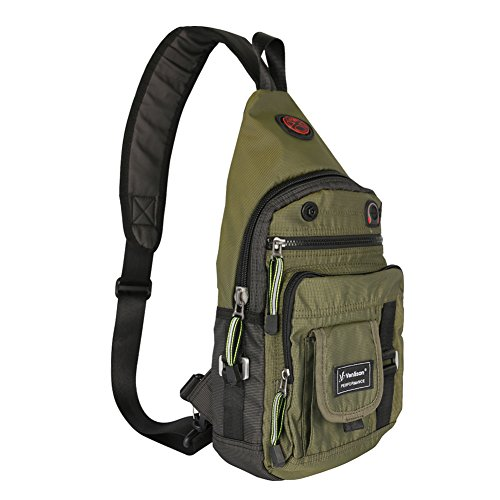 Vanlison Crossbody Sling Bag Backpack for Men & Women Green