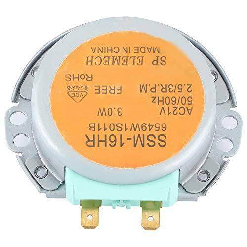 Motor de Plato Giratorio de microondas, Motor de agitador microondas, Motores de Plato Giratorio Estable Duradero Mental de Repuesto para Horno de microondas LG