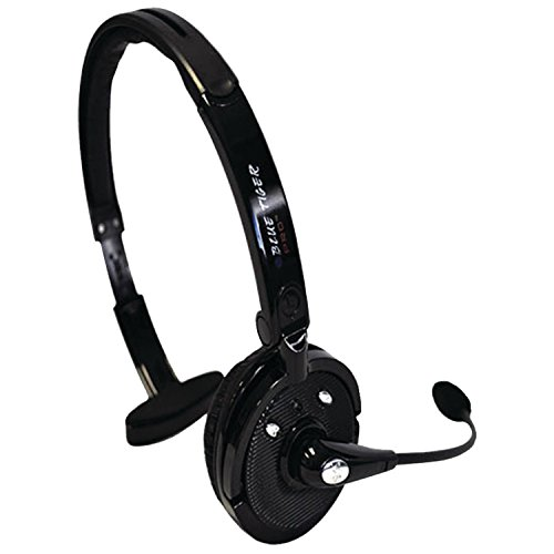 Blue Tiger Pro - Wireless Bluetooth Headphones – Professional Truckers Noise Cancelling Headset with Microphone – Office Headset - Dual Device Connection with no Wires - 20 Hour Talk Time - Black