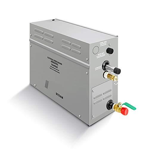 CGOLDENWALL - Generador de vapor profesional de 9 kW para sauna, baño, vaporizador comercial SPA, ducha, sauna, baño, spa con controlador digital, ajuste de hora, bomba de aroma, 220 V