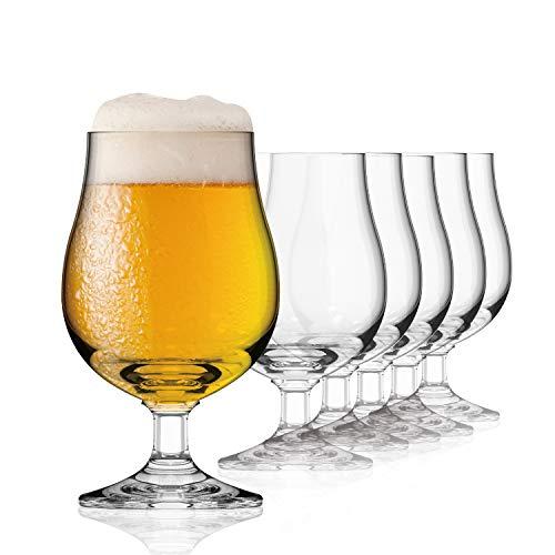 SAHM Copa Cerveza | Vaso Cerveza de 300ml | 6 Copas de Cerveza | Vasos Cristal | Alternativa a Jarra Cerveza | Ideal para Degustación Cervezas