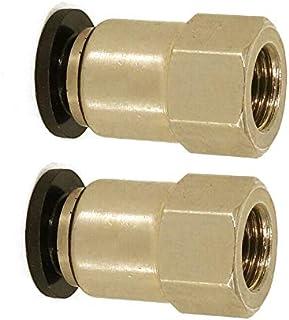 Air Quick Fitting BE-TOOL conector neumático hembra para tuberías de aire, herramientas neumáticas (paquete de 2), dorado