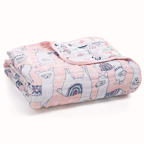 aden + anais Dream Blanket | Boutique Muslin Baby Blankets for Girls & Boys | Ideal Lightweight Newborn Nursery & Crib Blanket | Unisex Toddler & Infant Bedding, Shower & Registry Gift, Llamas