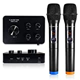 Sound Town Wireless Microphone Karaoke Mixer System w/ HDMI ARC, AUX, Bluetooth -Support Smart TV, Sound Bar, Media Box, Receiver (SWM15-PRO)