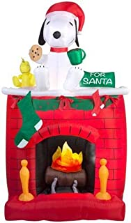 Arett G08-39877X Fire & Ice-Snoopy on Fireplace Scene