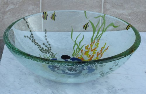 7 Faucet Finishes For Fabulous Bathrooms: Check Price Bathroom Double Layer Glass Vessel Vanity Sink